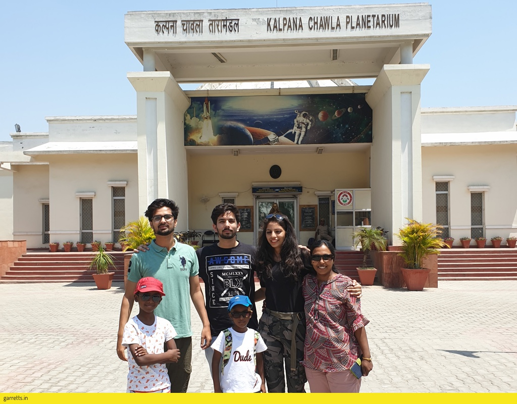 In front of Kalpana Chawla Memorial