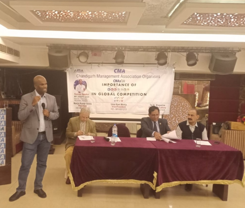 """Addressing Chandigarh Management Association"""