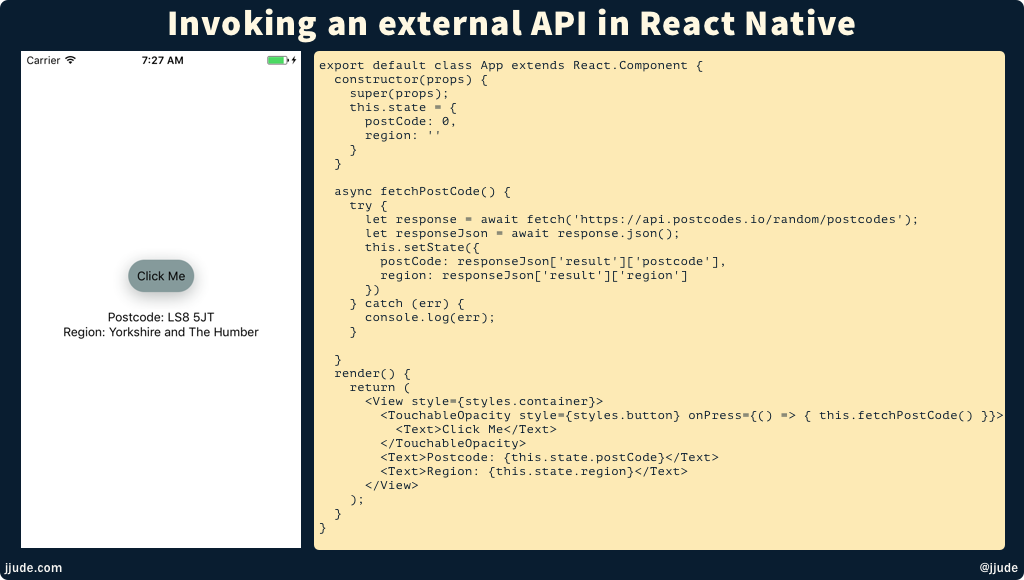 External API with Fetch
